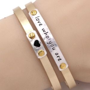 180-LOVE WHO YOU ARE- Cuff Bracelet